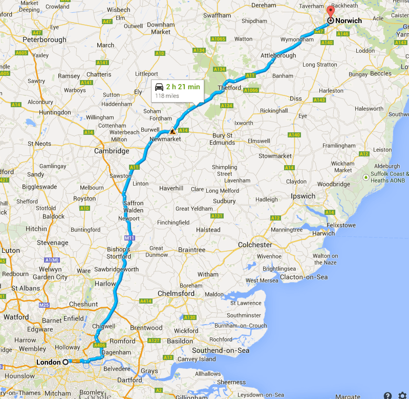 London to Norwich
